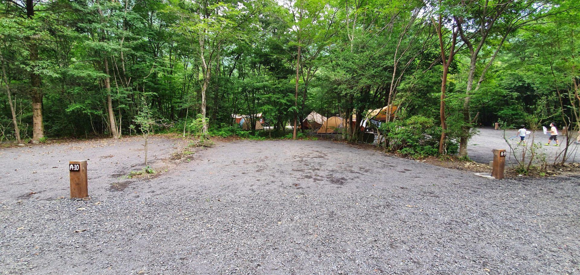 あさぎりキャンプフィールドのA-9サイト