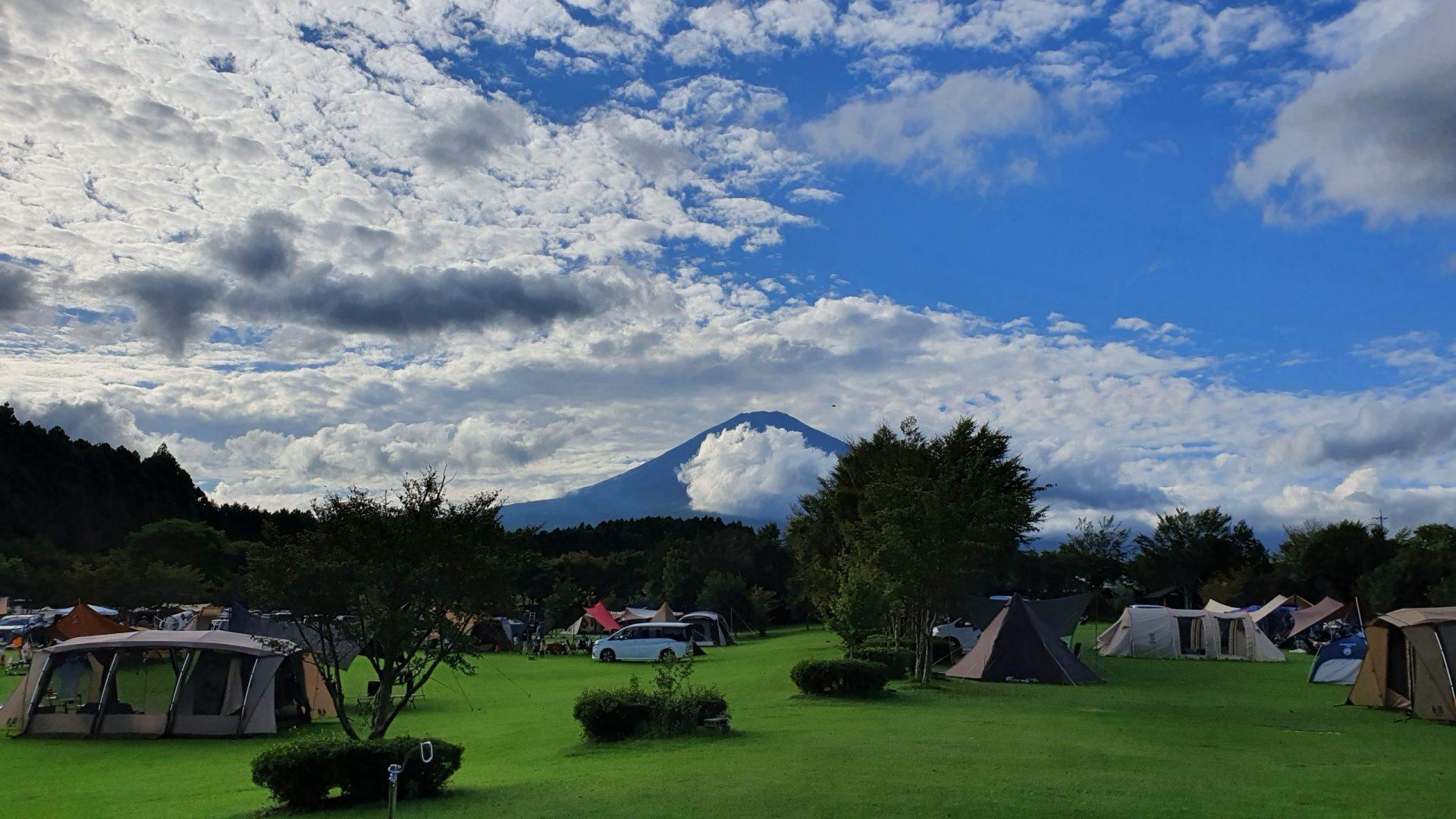 日中の富士山