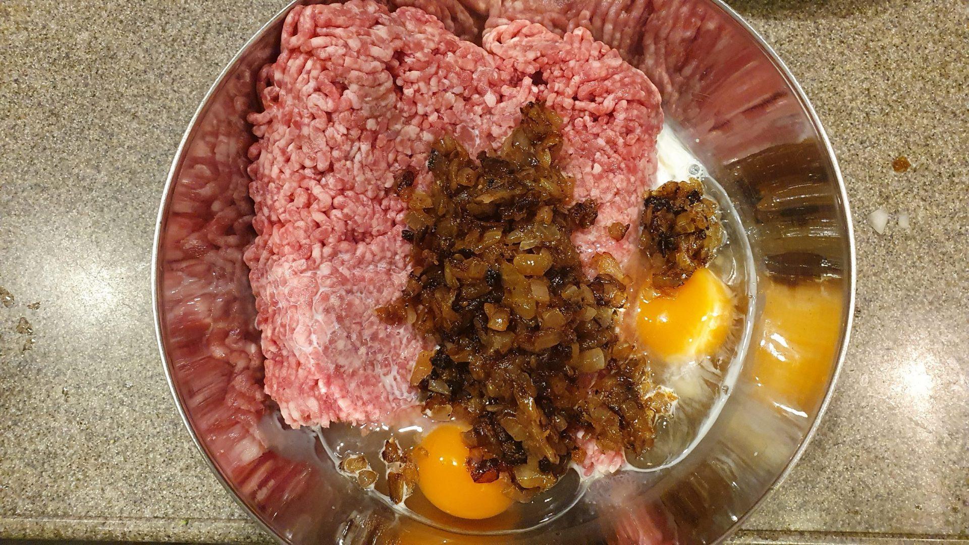 煮込みハンバーグ工程3