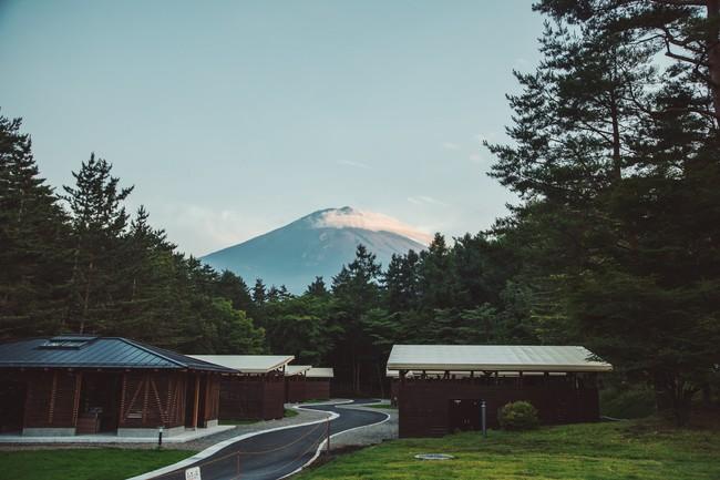 キャンプサウナ景色