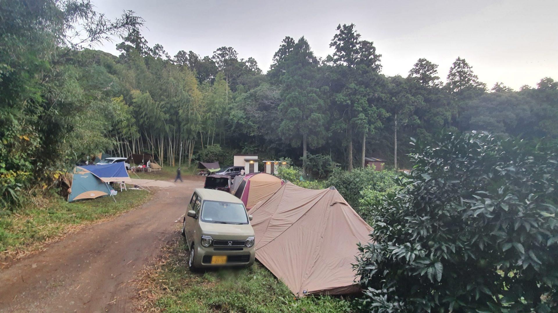第2キャンプ場手前