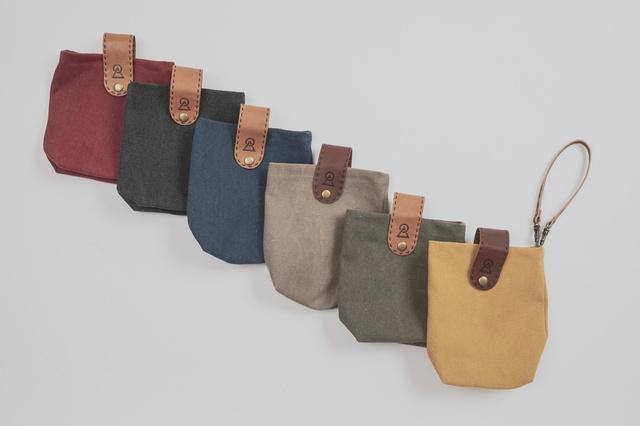 帆布製カラーバッグ