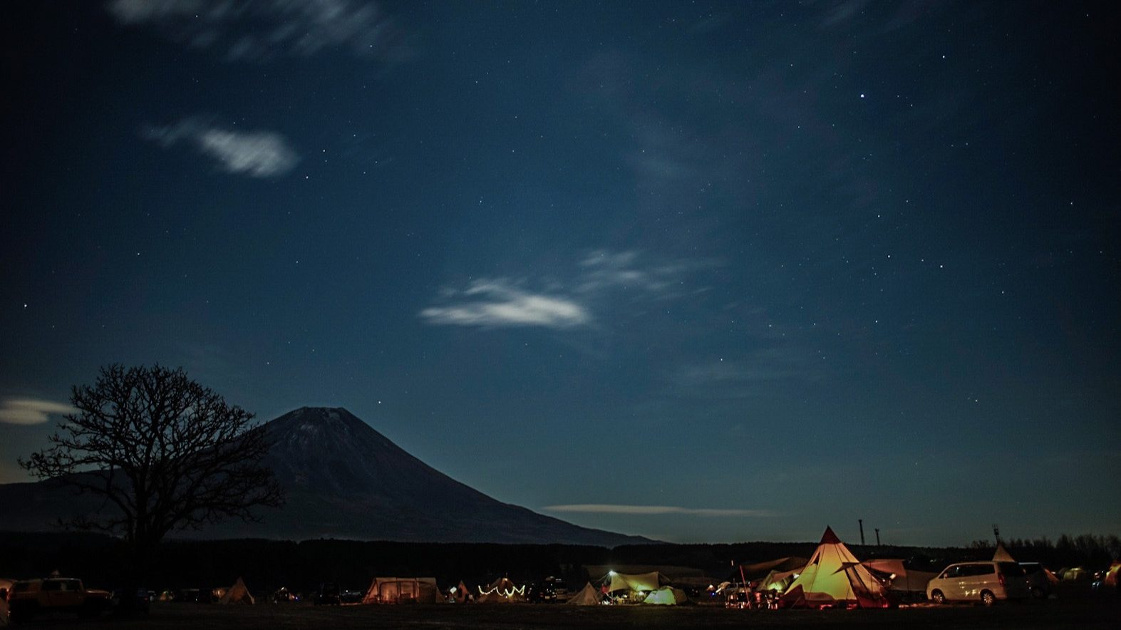 富士山星空