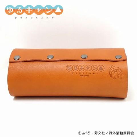 【ゆるキャン△】レザーガス缶カバー(各務原なでしこ/カセットボンベガス(CB)缶用)