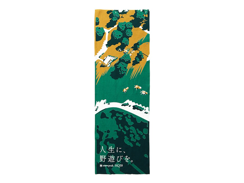 HQ10周年記念 Tenugui One Green