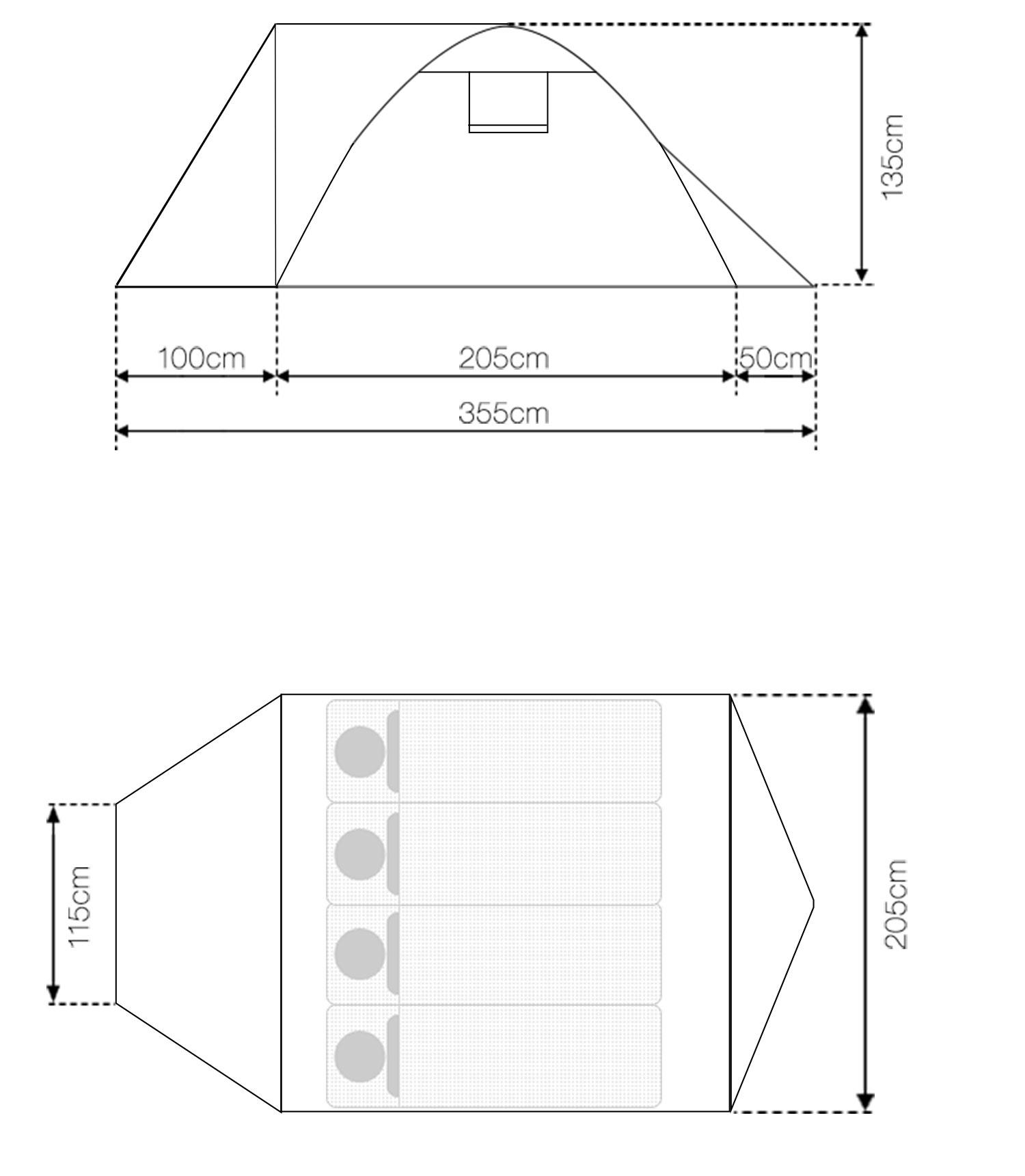 フィールドキャンプドーム200プラス