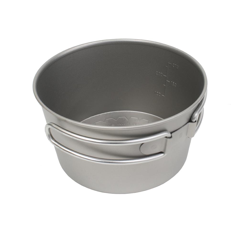 テンマクデザインチタンシェラカップ深型350フォールディングハンドル【ノマディカ】