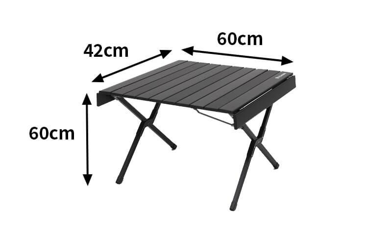 ハイランダーアルミロールトップテーブル