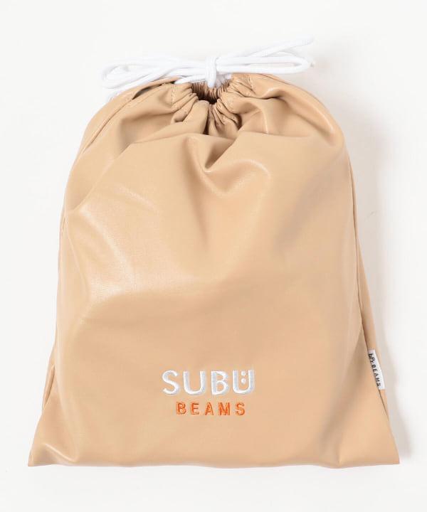 SUBU × BEAMS / 別注 フェイクレザー サンダル 2021
